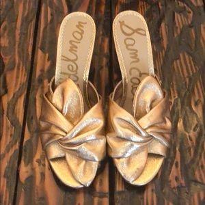 Size 11 Sam Edelman Rose Gold Mules